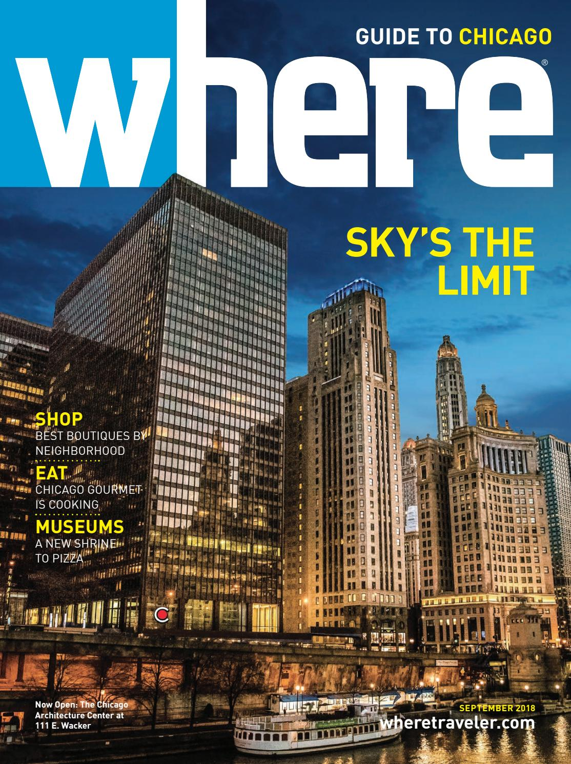 016782a7 Where Magazine Chicago Sep 2018 by Morris Media Network - issuu