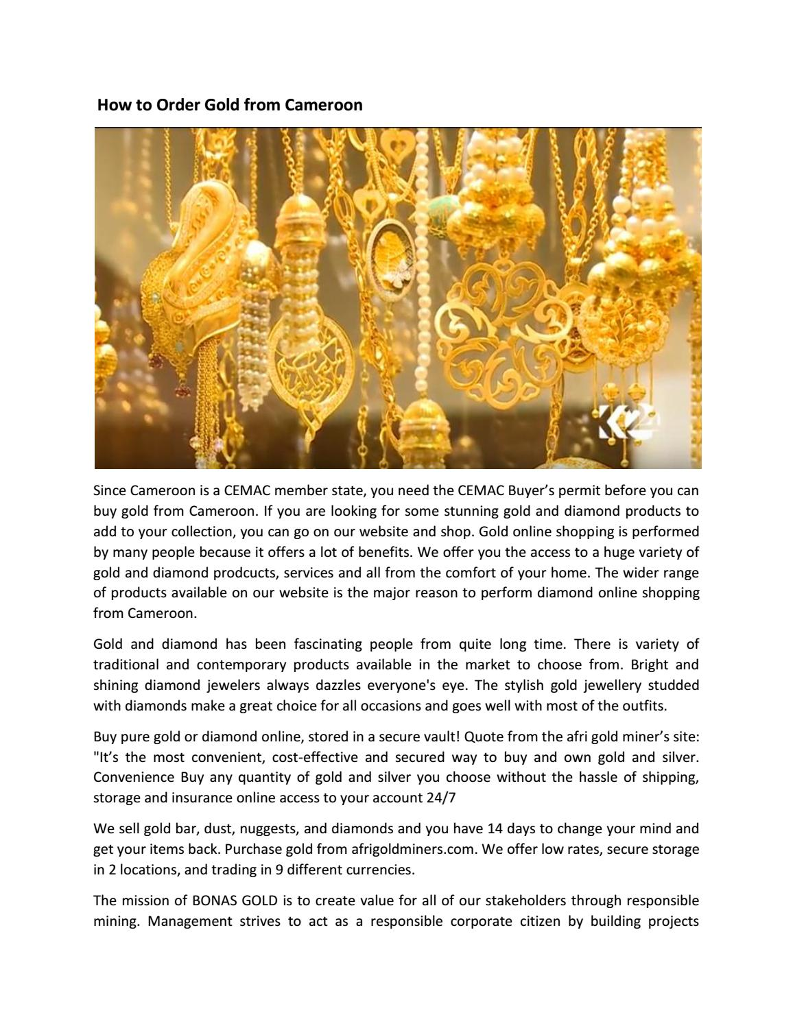 How to Order Gold from Cameroon by Kevin Hayes - issuu