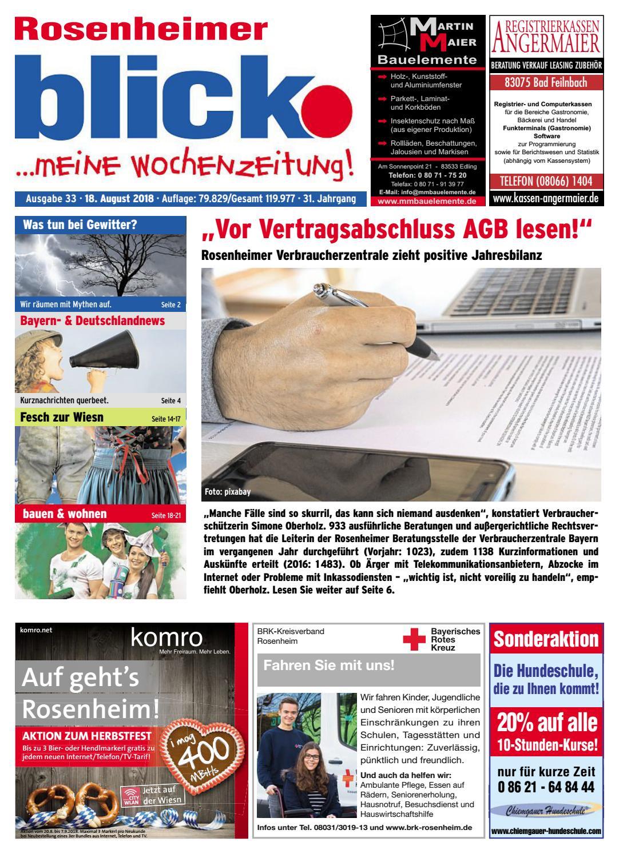 Rosenheimer Blick Ausgabe 33 2018 By Blickpunkt Verlag