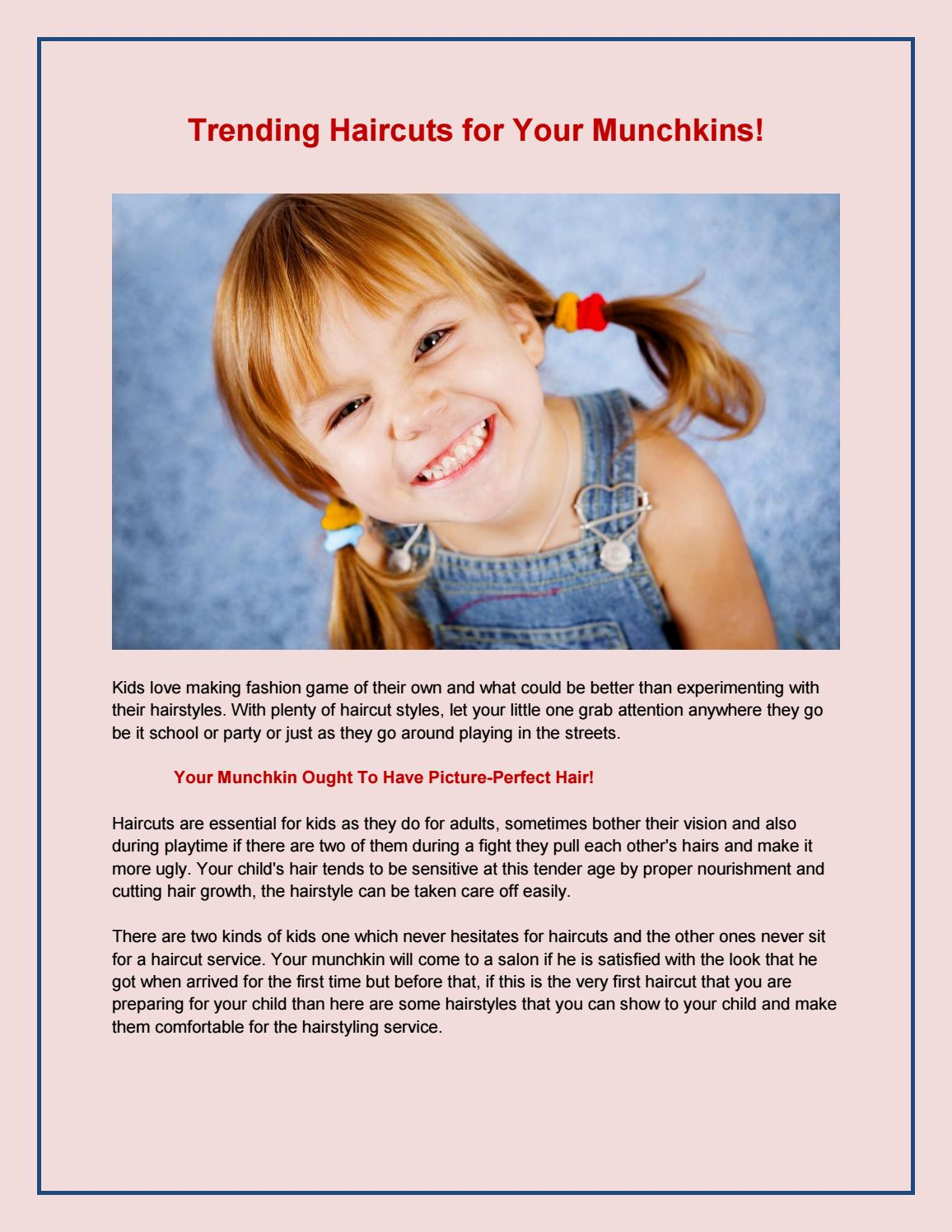 Trending Haircuts For Your Munchkins By Bloom Salon And Spa