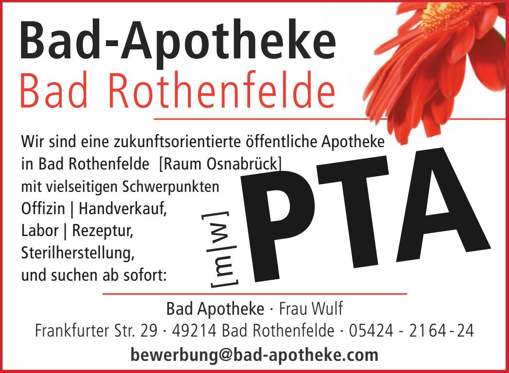Bad Apotheke Pta Stellenanzeige Noz By Neue Osnabruecker Zeitung Issuu