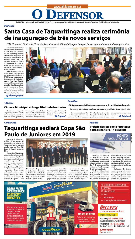 Jornal O Defensor 17 de agosto de 2018 by gabriel baglioti - issuu 8a62be05a2070