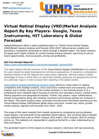 Virtual Retinal Display (VRD)Market Analysis Report By Key