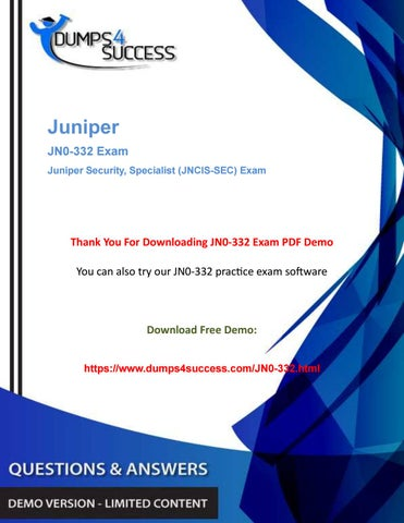 Updated JN0-332 Dumps Questions - Juniper Network Security