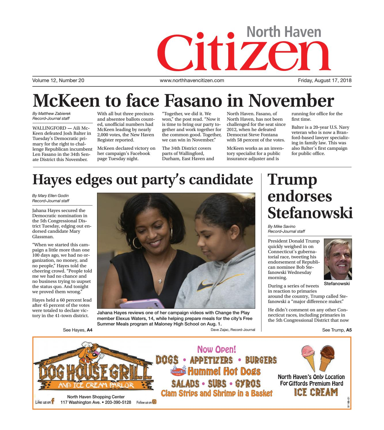 noth haven citizen, aug 17, 2018 by north haven issuunoth haven citizen, aug