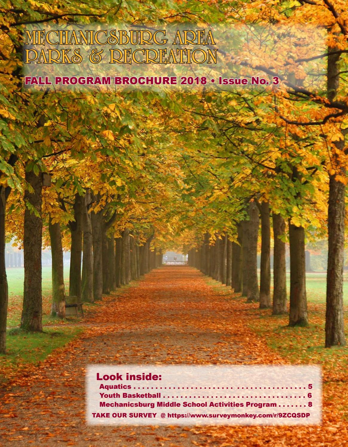 Fall Brochure 2018 By Mechanicsburg Area Parks Recreation Issuu