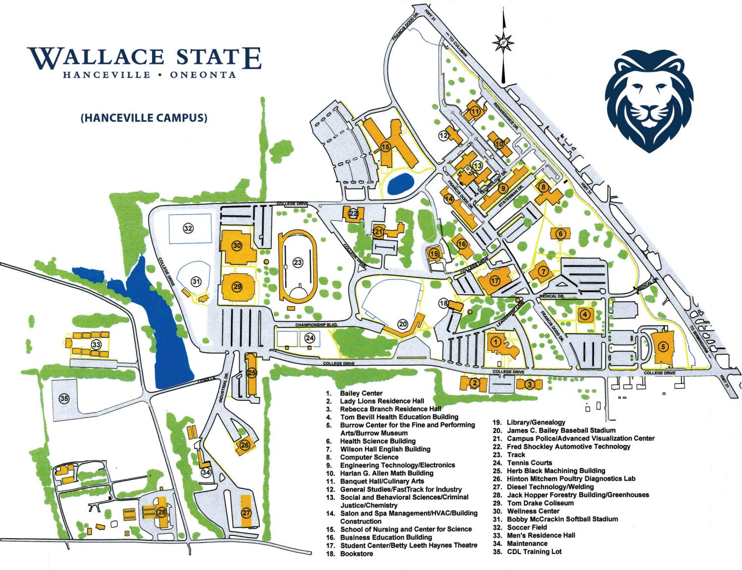 Fall 2018 Campus Map By Wallace State Community College Issuu
