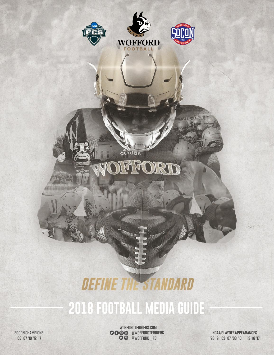 6498e3b98b7a55 2018 Wofford Football Media Guide by Wofford Athletics - issuu