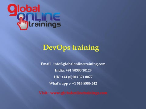 DevOps Training | the best DevOps Online Training with a