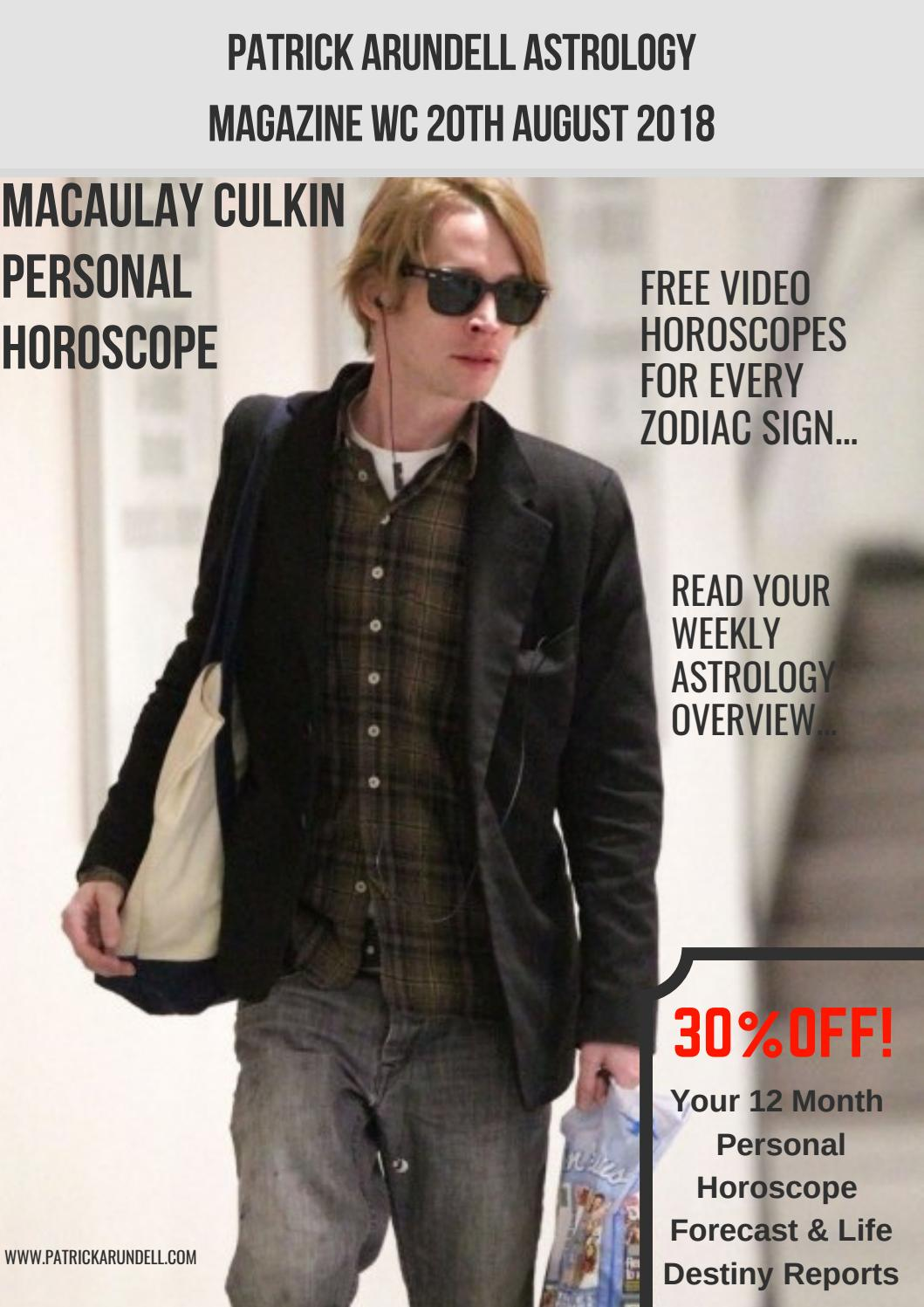 Patrick Arundell Astrology Magazine WC 20th August, 2018 by Patrick