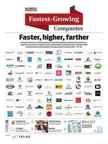 1e6e516c4ce BIV s Fastest-Growing Companies 2018 by Business in Vancouver Media ...
