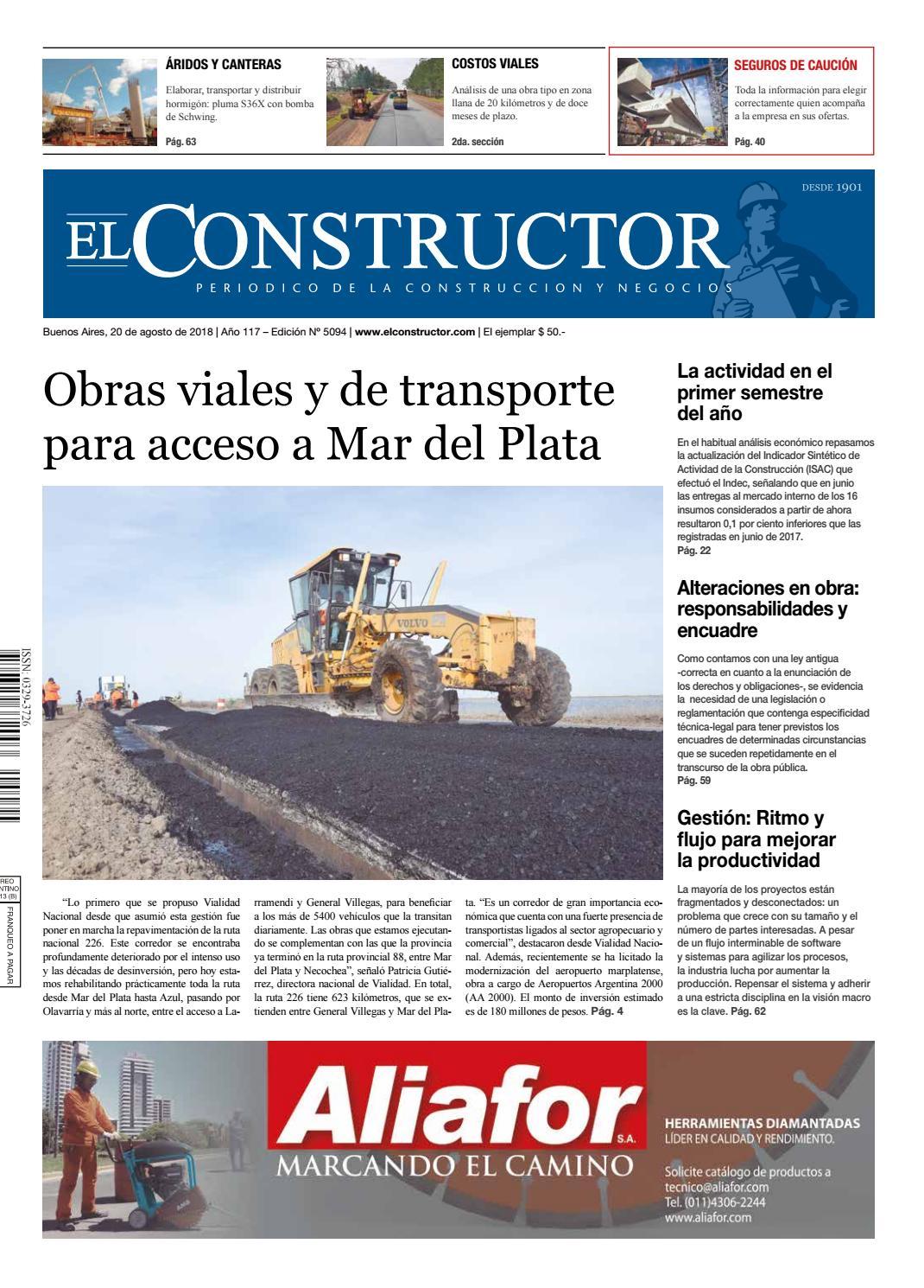 El Constructor 20/8/2018 - N° 5094 Año 117 by ELCO Editores - issuu