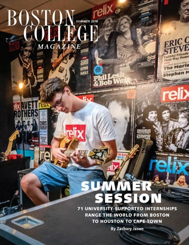Boston College Magazine, Summer 2018 by Boston College - issuu