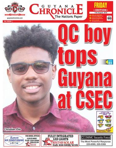 54ee0e67d2 Guyana Chronicle E-paper 08-17-2018 by Guyana Chronicle E-Paper - issuu