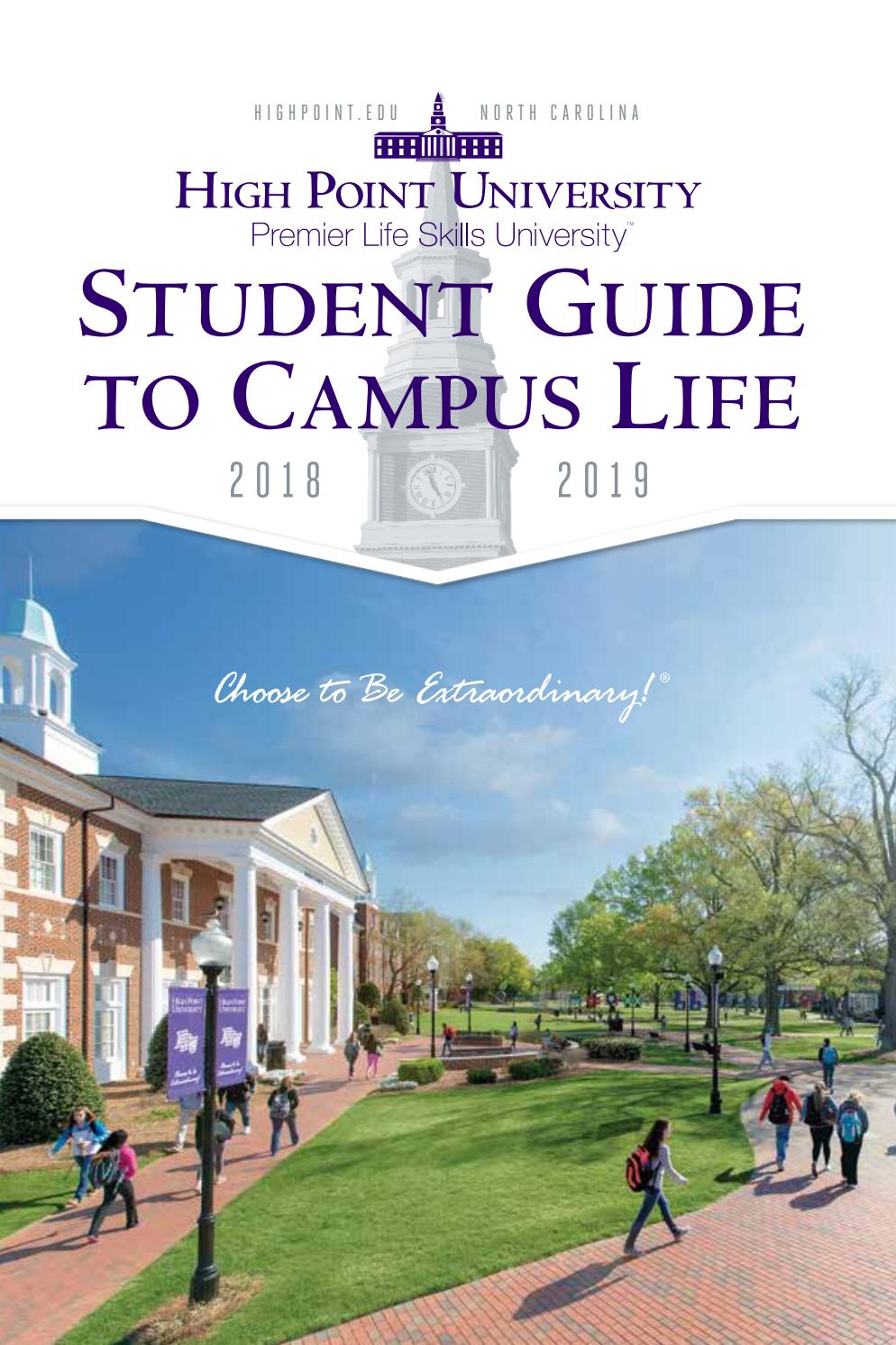 HPU Student Guide to Campus Life 2018-2019 by High Point