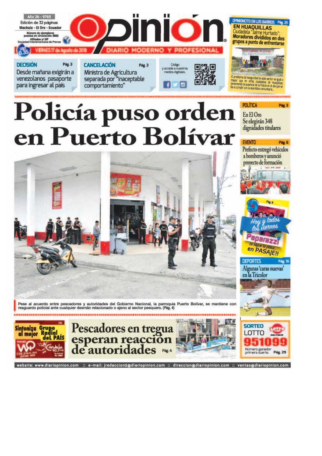 Impreso 17 08 18 By Diario Opinion Issuu