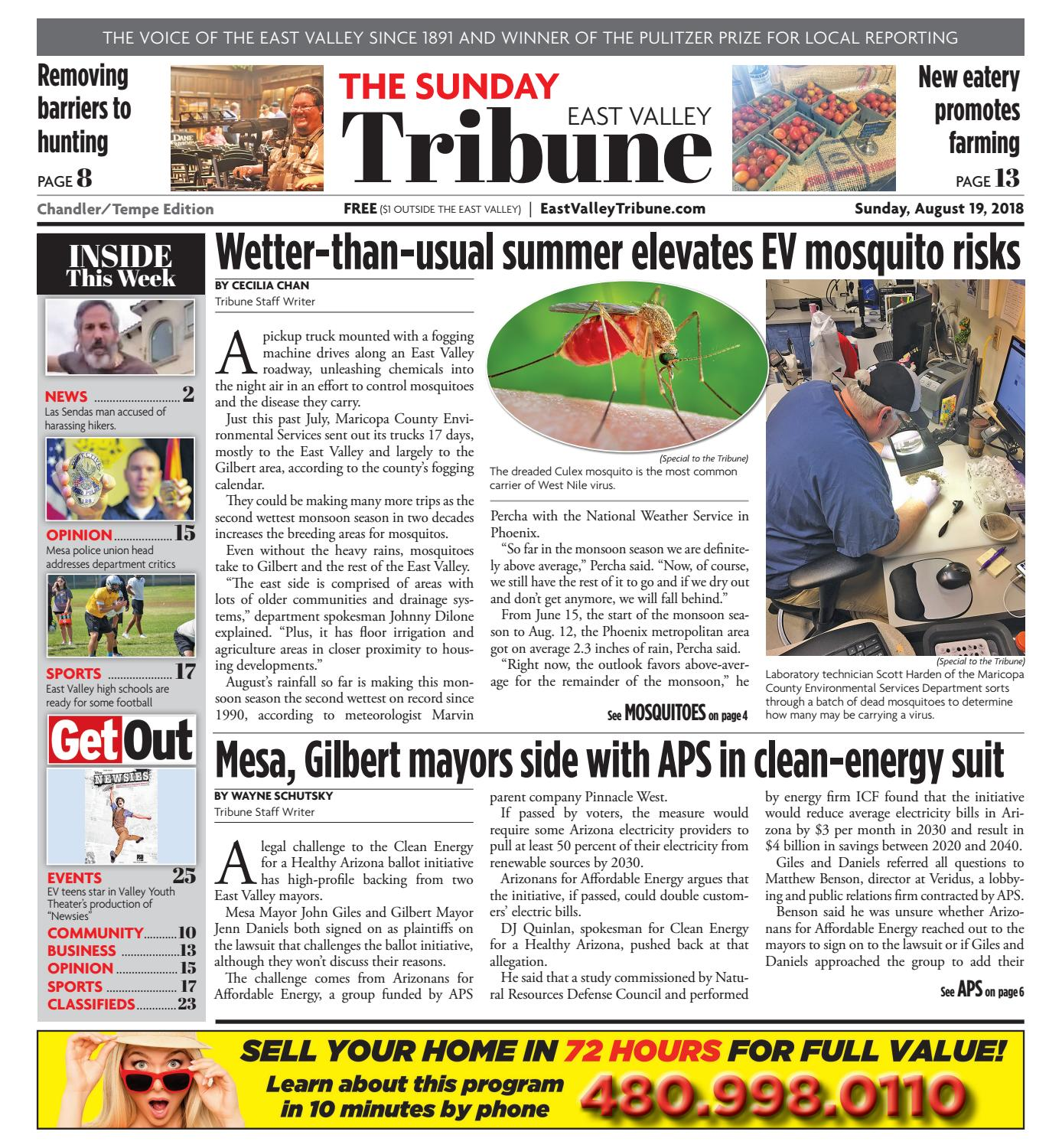 East Valley Tribune - Chandler/Tempe August 19, 2018