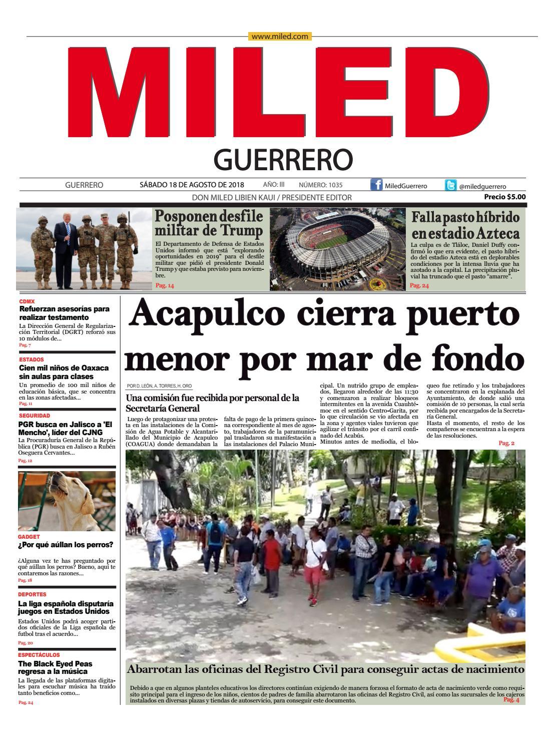 Miled Guerrero 18 08 18 By Miled Estados Issuu