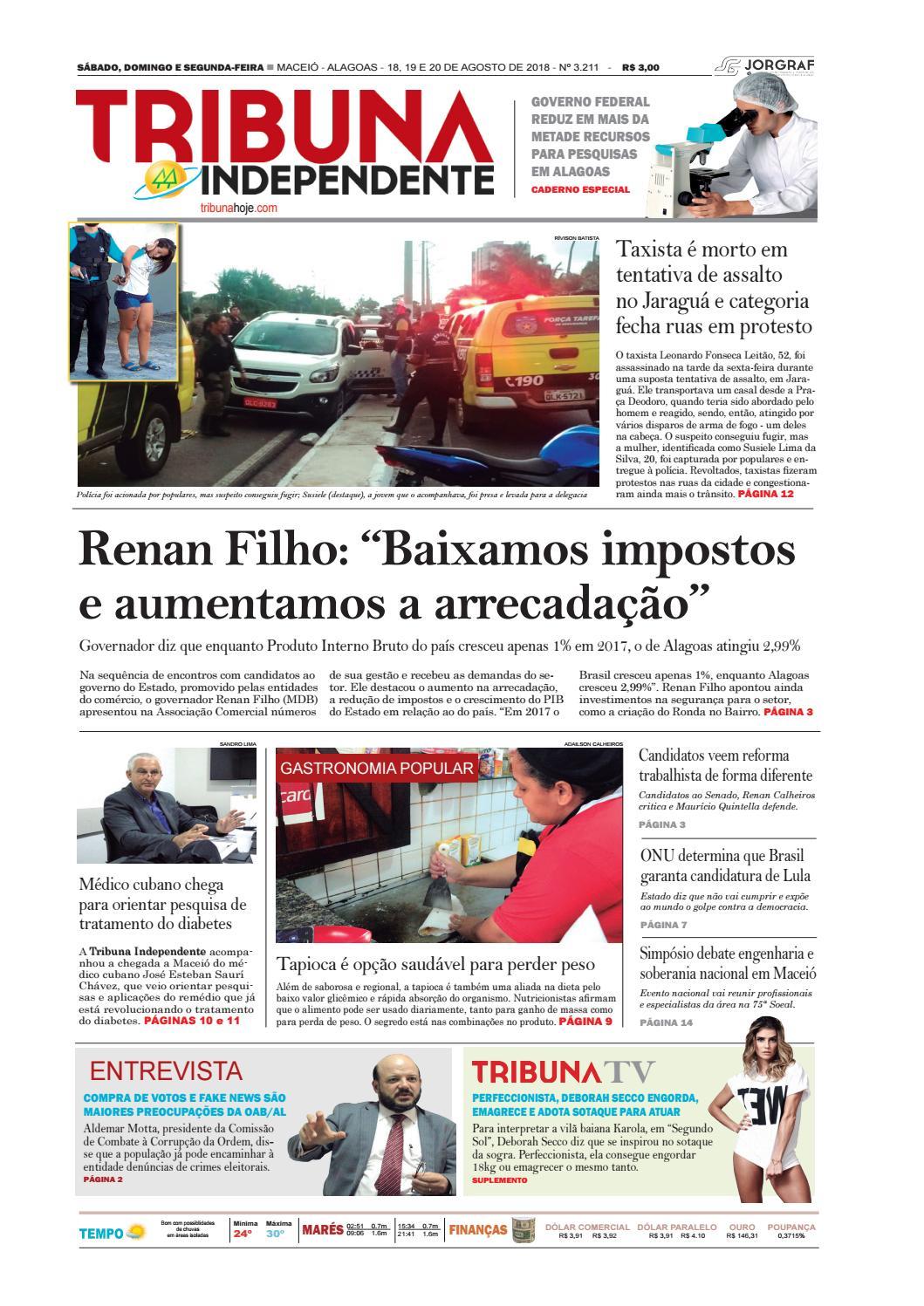 af4cd53c7 Edição número 3211 - 18 e 19 de agosto de 2018 by Tribuna Hoje - issuu