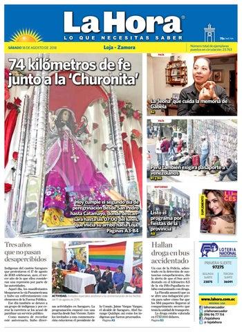 d44e7c4dfe Diario La Hora Loja 18 de Agosto 2018 by Diario La Hora Ecuador - issuu