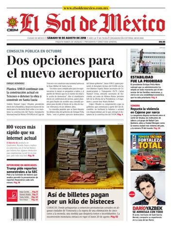 90ef67343d El Sol de México 18 de agosto del 2018 by El Sol de México - issuu