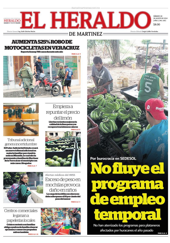 El Heraldo de Martínez 18 de Agosto de 2018 by poza_acme - issuu