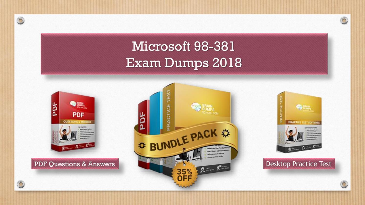 Secrets of Python (version 3 6 or later) 98-381 Exam Dumps