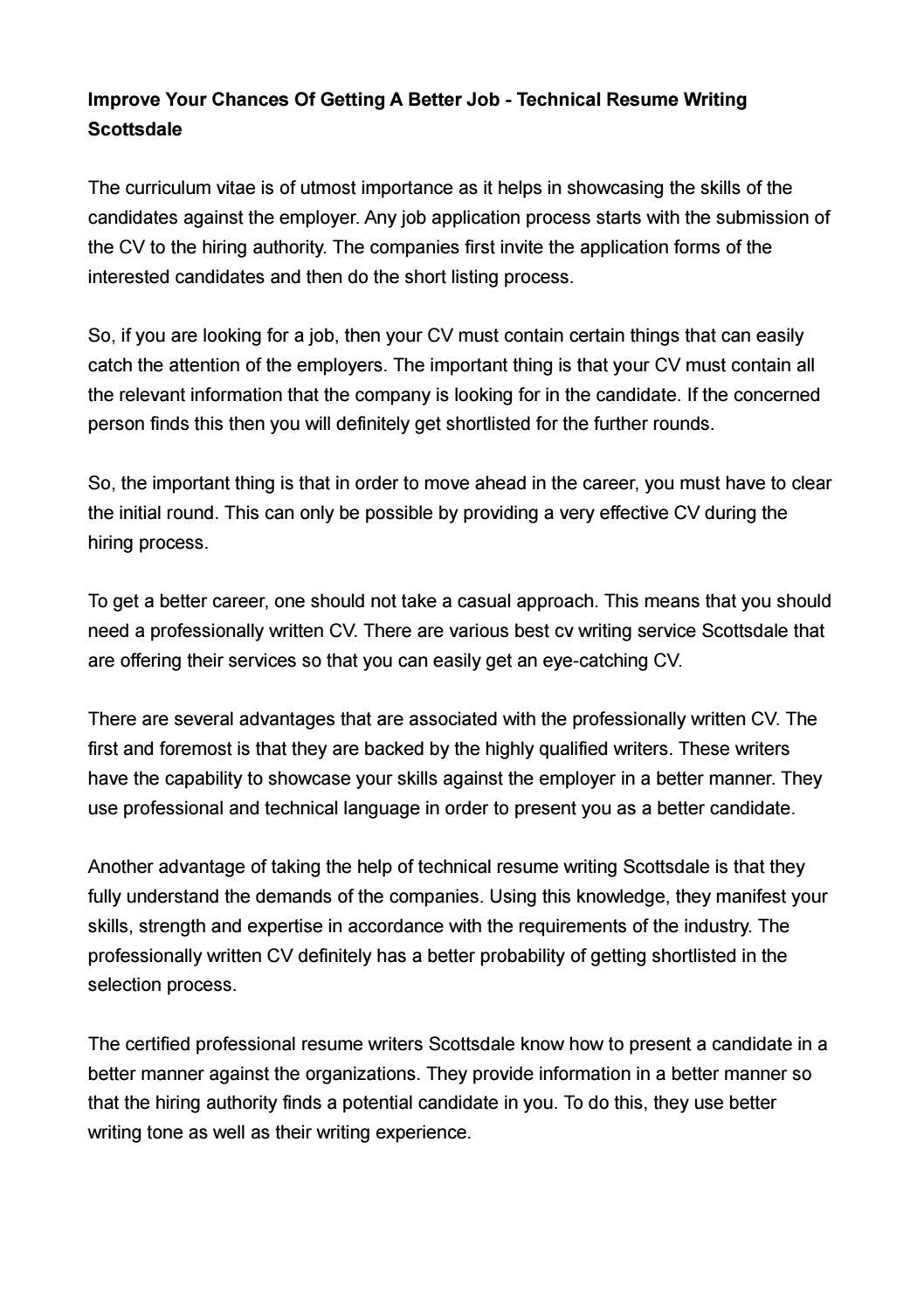 Professional Resume Writers Scottsdale By Toplineresume89 Issuu