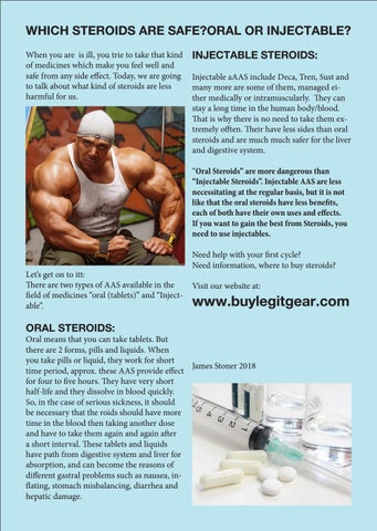 Which steroids are safe? Oral or injectable? by buylegitgear com - issuu