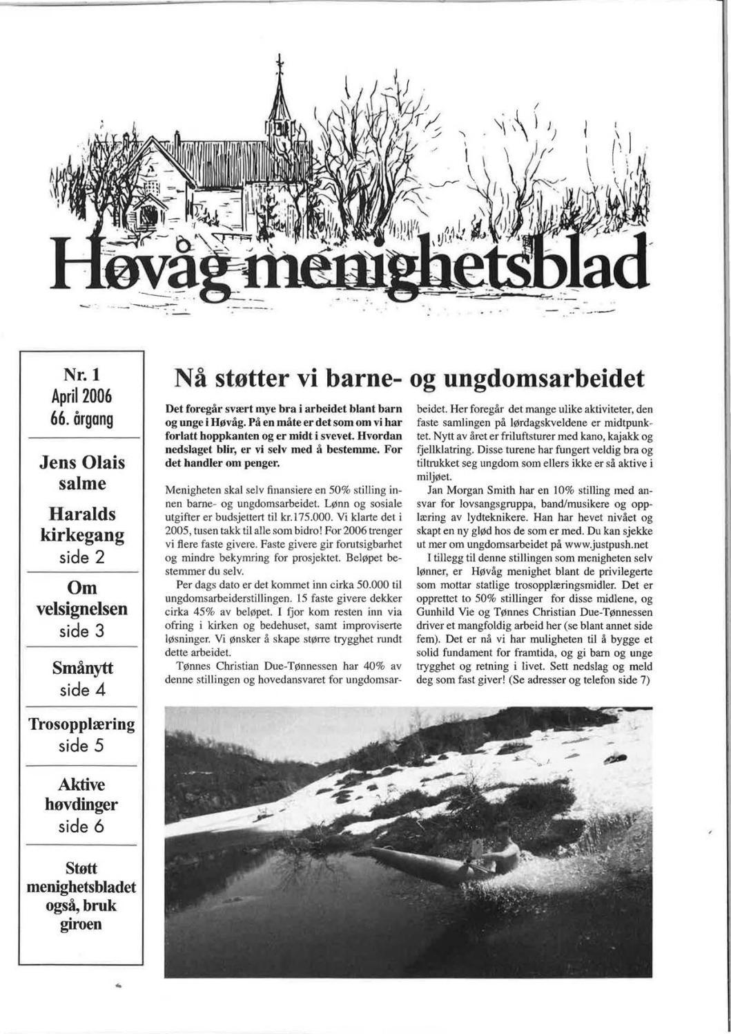 2214b734 Høvåg menighetsblad 2006 by Terje Skjerdal - issuu