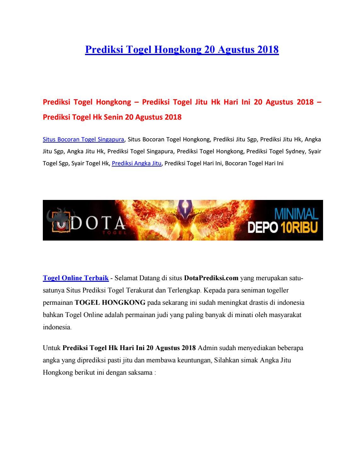 Prediksi Togel Hongkong 20 Agustus 2018 by DOTA TOGEL - issuu 3ff25e46f9