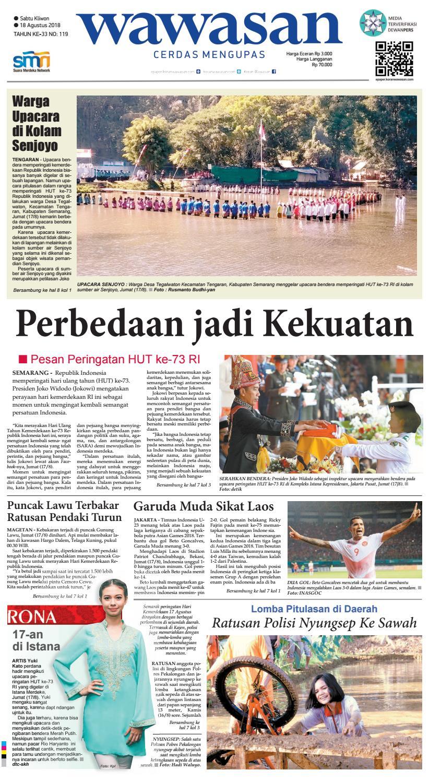 Wawasan 18 Agustus 2018 By Koran Pagi Issuu Rkb Tegal Produk Ukm Bumn Emping Ubi