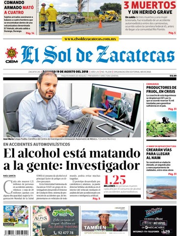 078dea9778241 El Sol de Zacatecas 19 de agosto 2018 by El Sol de Zacatecas - issuu