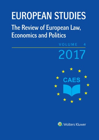 European Studies - The Review of European Law, Economics and