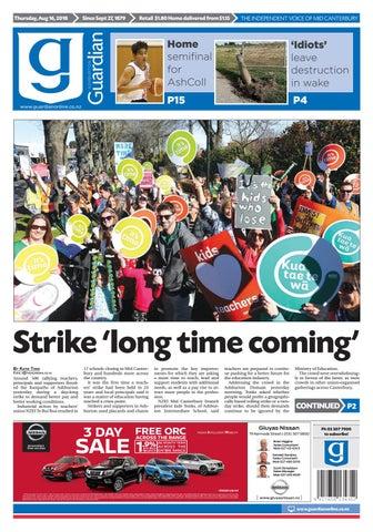 Ashburton Guardian, Thursday, August 16, 2018 by Ashburton
