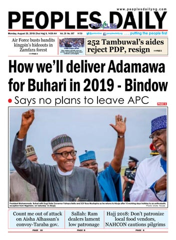 Monday, August 20, 2018 Edition by Peoples Media Limited - issuu