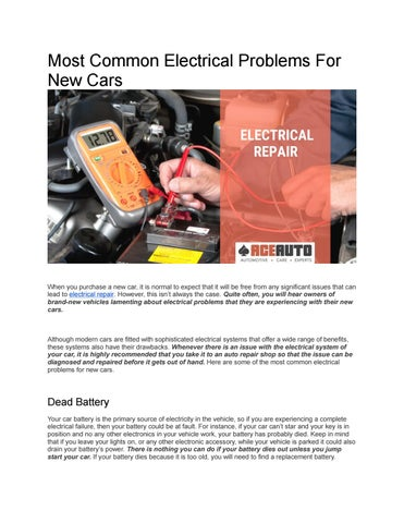 Page 1 Most Common Electrical Problems
