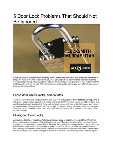 Marvelous 5 Door Lock Problems That Should Not Be Ignored By Interior Design Ideas Inamawefileorg