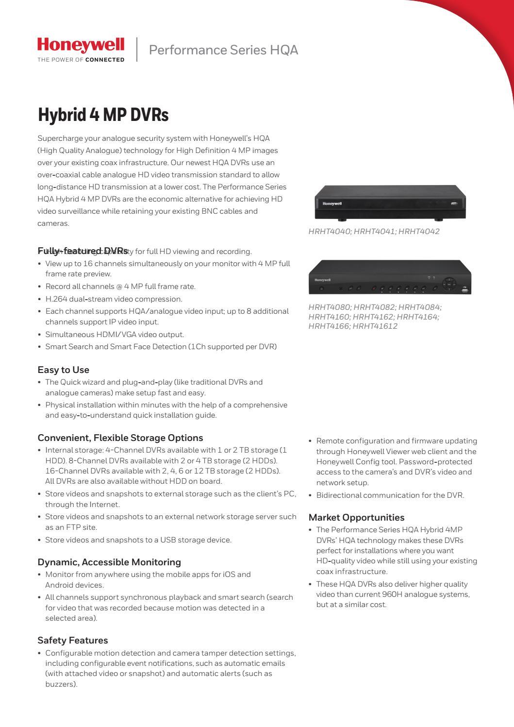4mr dvrs by S P Securiton Alarm Systems Ltd - issuu
