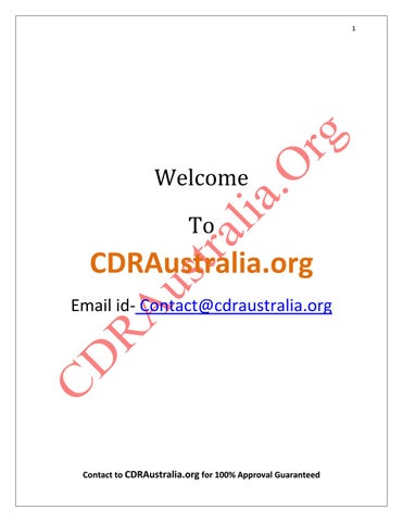 Engineers Australia CDR Sample PDF by Andrew Robert - issuu