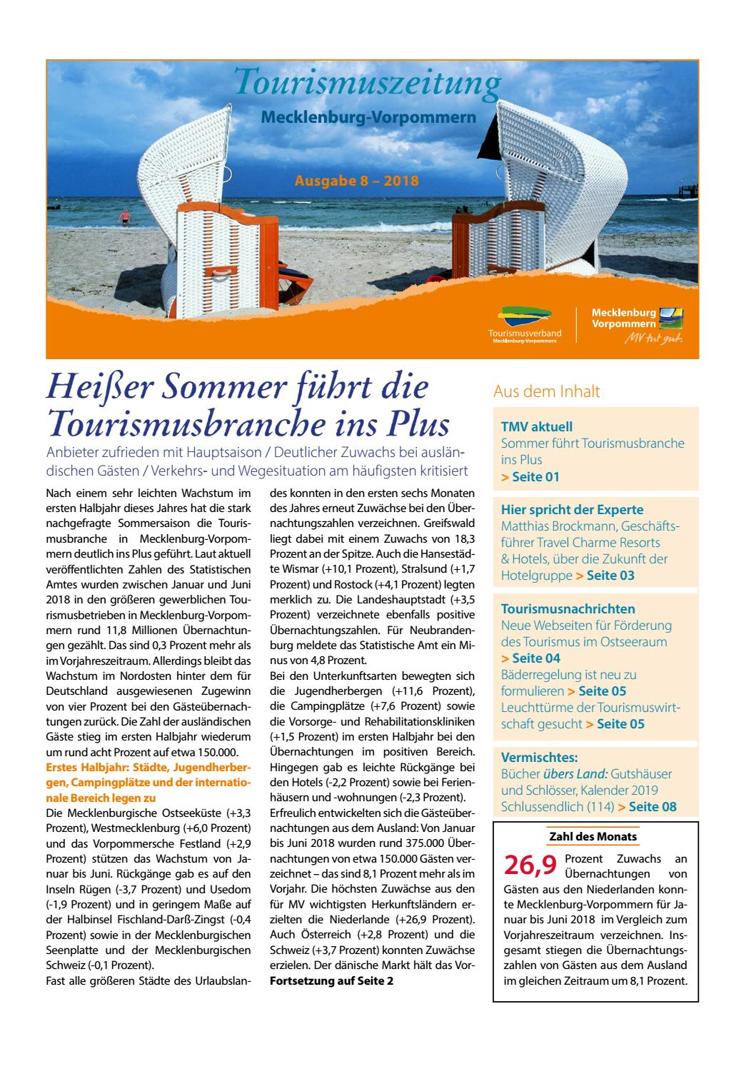 08/2018 Tourismuszeitung Mecklenburg-Vorpommern by Tourismusverband  Mecklenburg-Vorpommern e. V. - issuu
