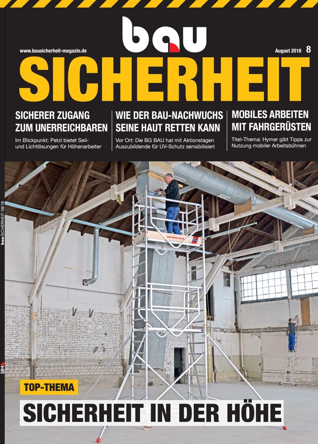 bauSICHERHEIT August 2018 by SBM Verlag GmbH - issuu