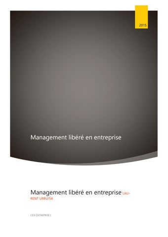 Management Libere En Entreprise By Laurent Urrutia Issuu