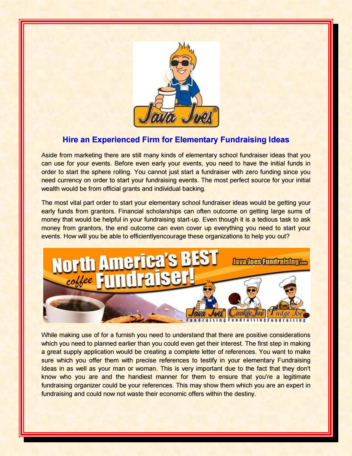 hire an experienced firm for elementary fundraising ideas by java