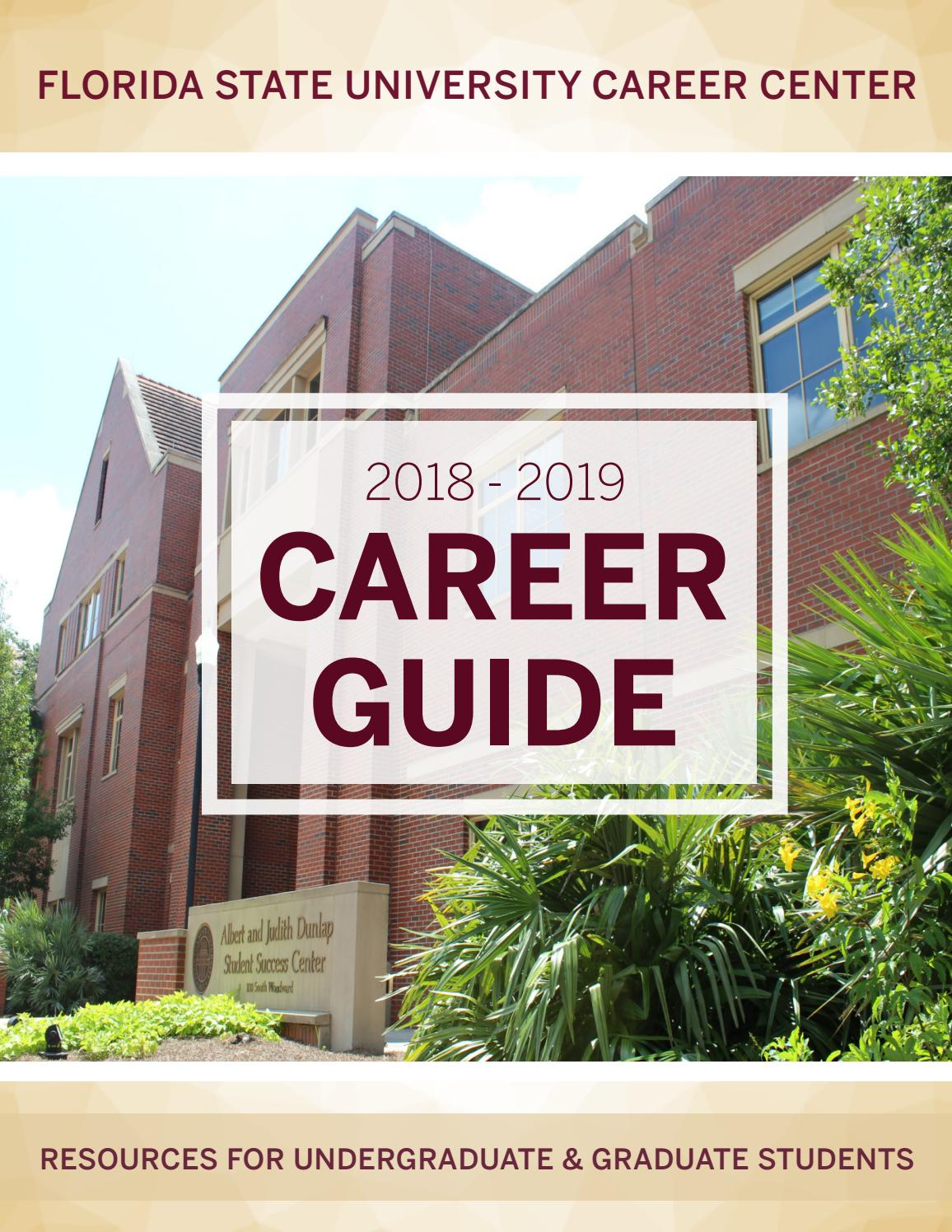 FSU Career Guide 2018-2019 by Florida State University