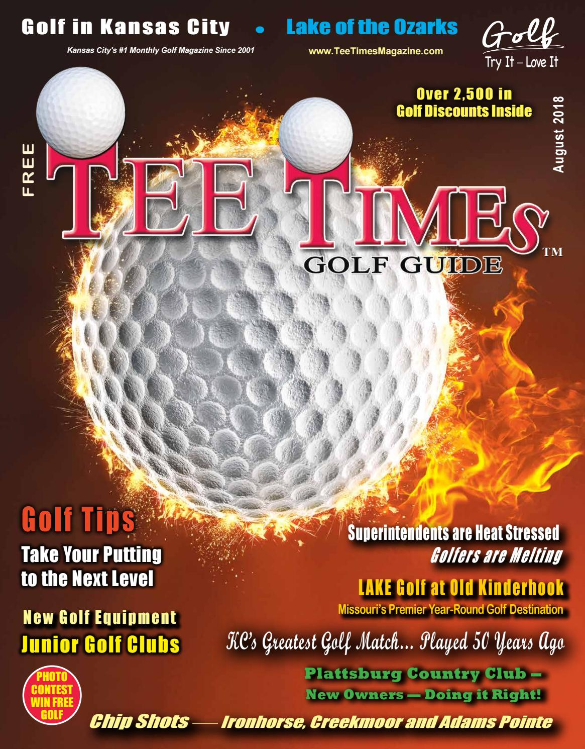 Tee Times Golf Guide Magazine August