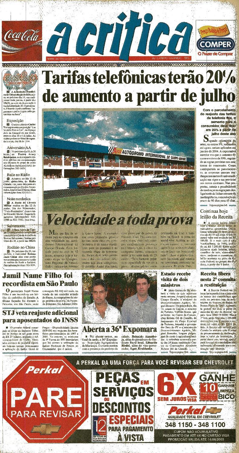 Jornal A Critica - Edição 1132- 08 06 2003 by JORNAL A CRITICA - issuu da109b1a18