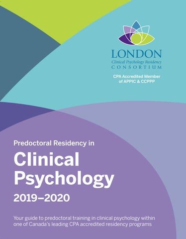 Predoctoral Residency Inclinical Psychology 2019 2020 By St