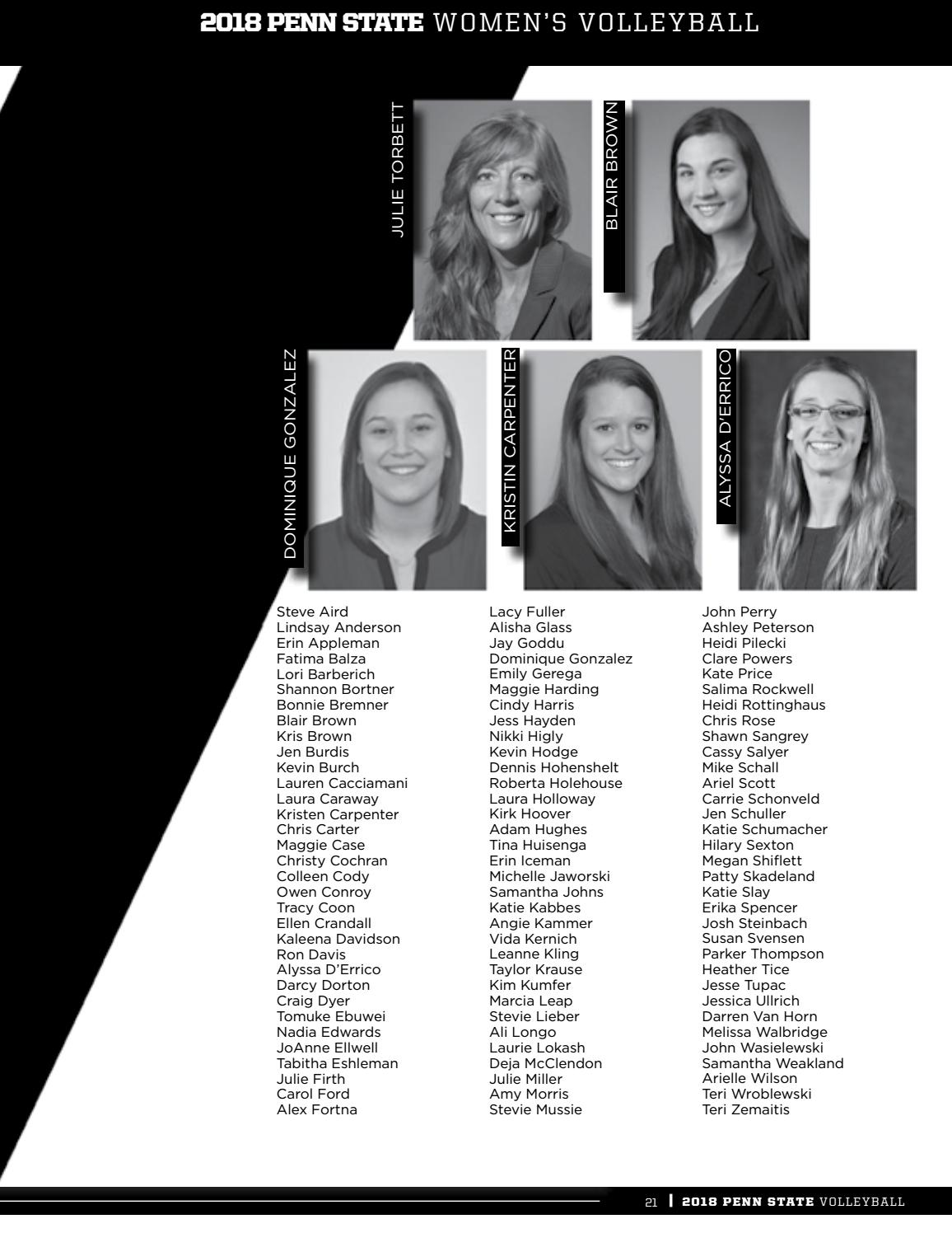 2018 Penn State Women's Volleyball Yearbook by Penn State ...