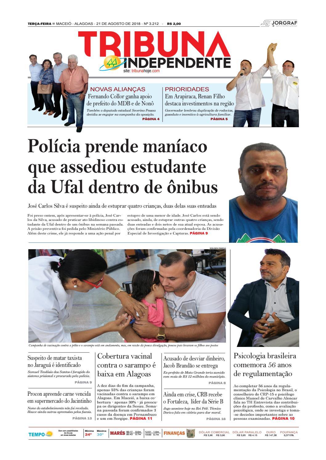 099e28bd20 Edição número 3212 - 21 de agosto de 2018 by Tribuna Hoje - issuu